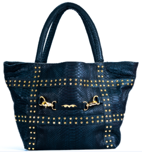 Ares by Sandra Holstad Black Python Live In Bag