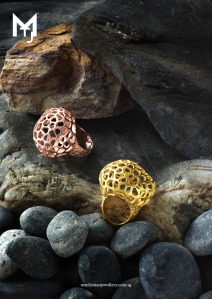 Bronze Light Small Rings